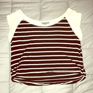 Charlotte Russe Striped Crop Top
